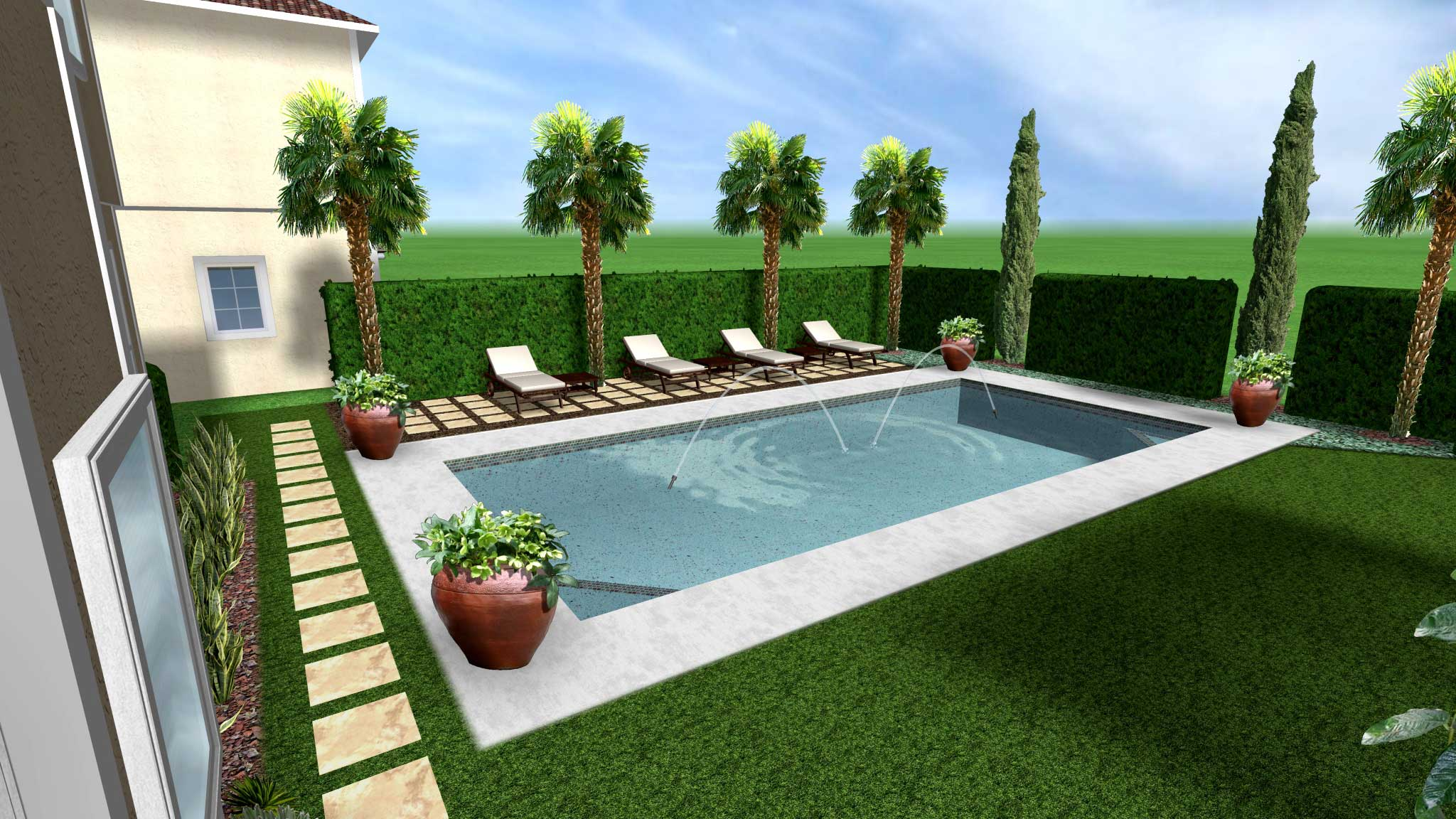 Mediterranean pool design for Pool designs florida