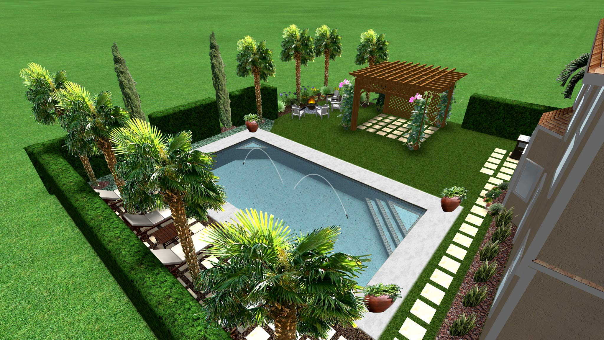 Mediterranean pool design for Italian pool design 7