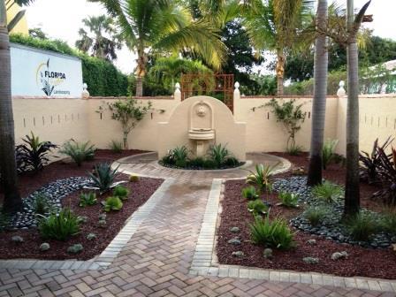 Mediterranean Courtyard Garden with Tropical Accents