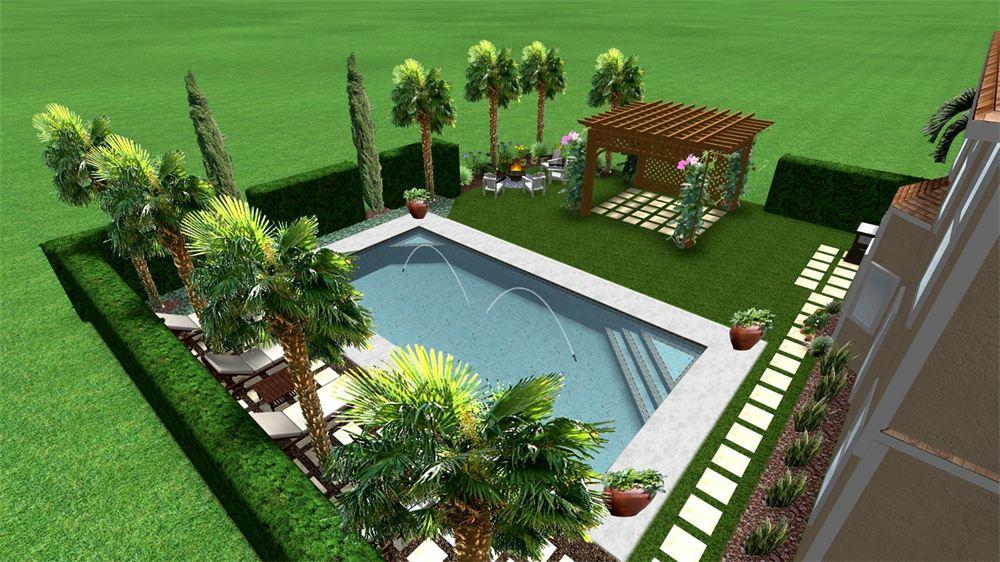 Florida landscape design eileen g designs for Italian landscape design