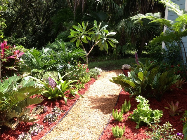 » Back Yard Landscape Design - Eileen G Designs on Tropical Backyard Landscaping Ideas  id=16109